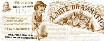 Det var mannen med hatt, Enrico Polese Santarnecchi, som oversatte Ibsen fra tysk og fransk til italiensk, i samarbeid med en belgisk professor, Paolo Rindler. (Illustrasjon: Annica Thomsson)