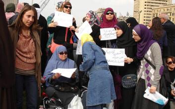 Demonstrerende kvinner på Tahrir-plassen. (Foto: Kodak Agfa Egypt/Wikimedia Commons)
