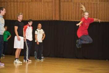Undervisning i dans ved Norges idrettshøgskole. (Foto: NIH)