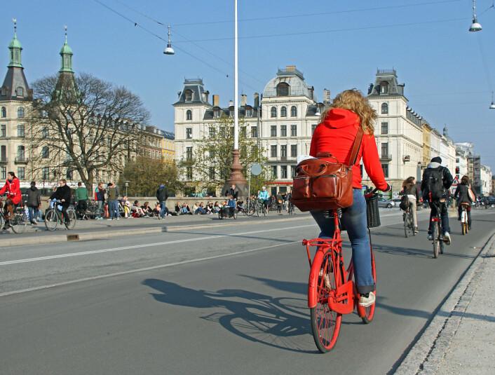 København er en av byene i Norden hvor folk sykler aller mest. Norge står det derimot ikke så sykkelbra til med. (Foto: Colourbox)