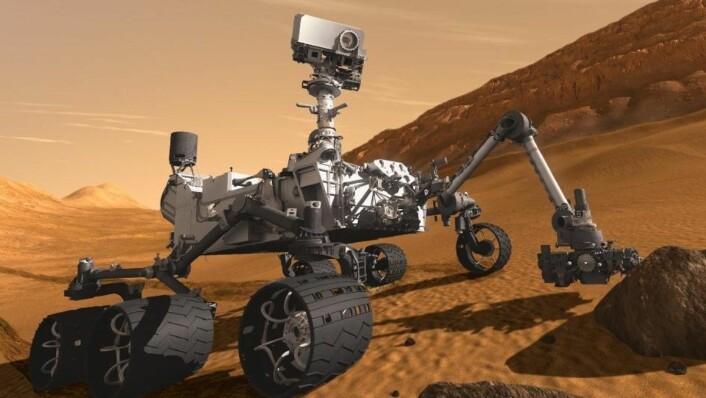 Curiosity har ikke klart å spore opp metan på Mars, men det betyr ikke at det ikke finnes der. (Foto: NASA/JPL)