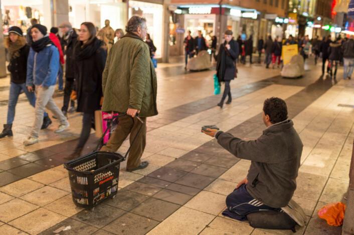 En tigger på gata i Stockholm. (Foto: iStockphoto)