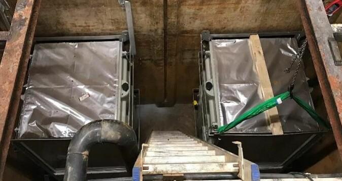 Slike membranfilter renset kloakken effektivt under forsøk ved renseanlegget Frevar i Fredrikstad.