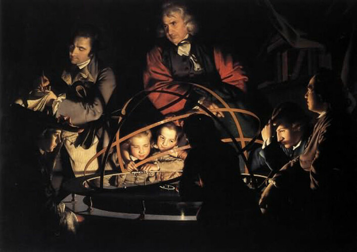 The Orrery, maleri av Joseph Wright of Derby, ca. 1766. (Foto: (Bilde: Wikimedia Commons))