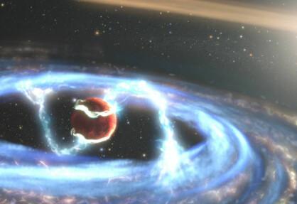 Forskere har sett hvordan en kjempestor, fremmed planet vokser