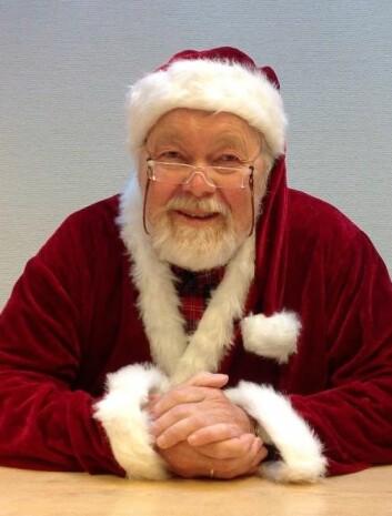 Dansk professor i julenissedrakt. (Foto: Glostrup Hospital)