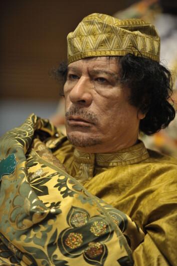 Selv om regimer faller og ledere går er vi ikke nødvendigvis kvitt patriarkatet, mener Naguib. Her er Muammar al-Gaddafi, som ble drept av opprørere under revolusjonen i Libya tidligere i år. (Foto: US Navy/2nd Class Jesse B. Awalt/Wikimedia Commons)