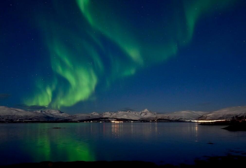 Naturen og nordlyset bidrar til at Cordian Riener elsker Tromsø. Dette bildet har han selv tatt i Telegrafbukta i vår.