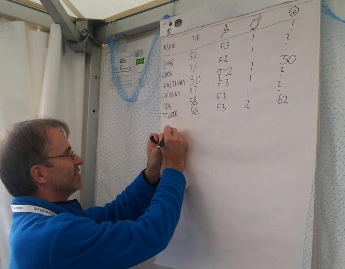 Jan Olav Langseth gir poeng for de raskeste ubåtene. (Foto: Nina Kristiansen)