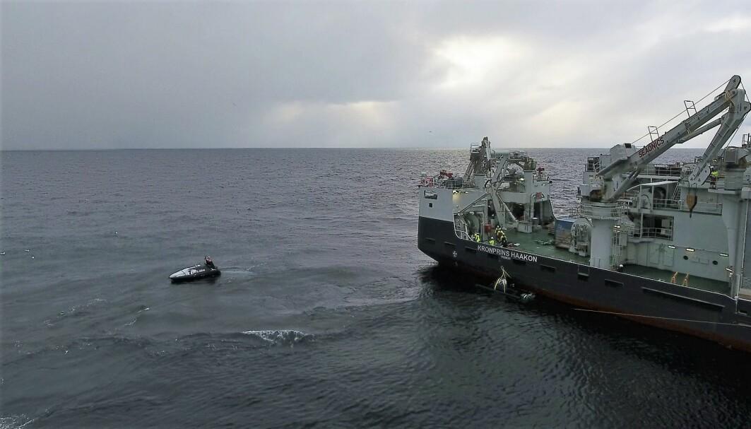 Testing av nytt autonomt fartøy i Barentshavet