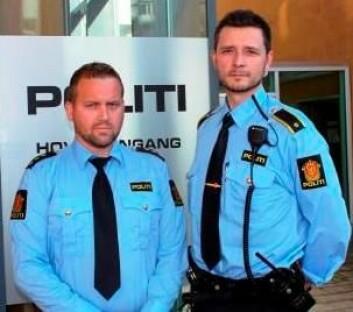 Anders Sjøtrø og Per Ivar Olsen er begge politimenn ved Sør-Trøndelag politidistrikt. (Foto: (Lars Melvold, Politiet))
