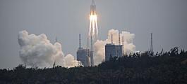 Forskere frykter ukontrollert nedfall av kinesisk romrakett