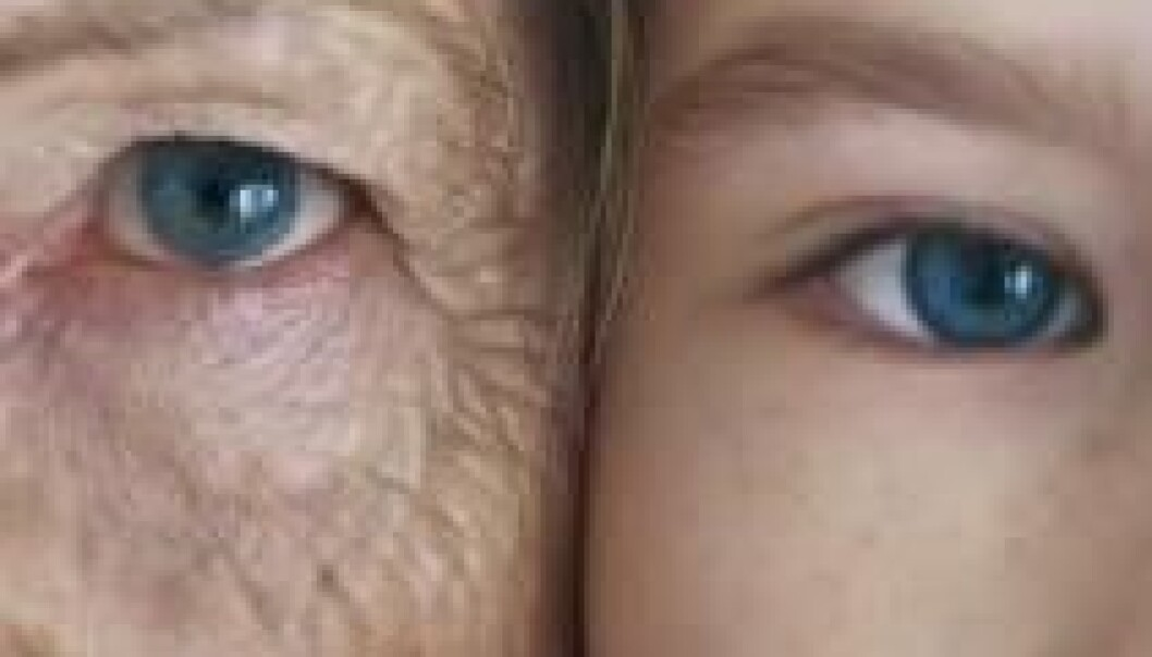 Så lenge vi er unge, klarer kroppen å reparere celleskader. Derfor utvikler skadene seg sjelden til kreft. Reparasjonene begynner å halte når vi kommer i femtiårene. Colourbox