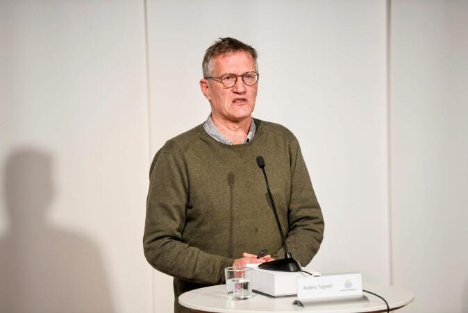 Anders Tegnell som er fagdirektør for Folkehelsemyndighetene i Sverige, har frontet koronapandemien og tiltakene på pressekonferanser.