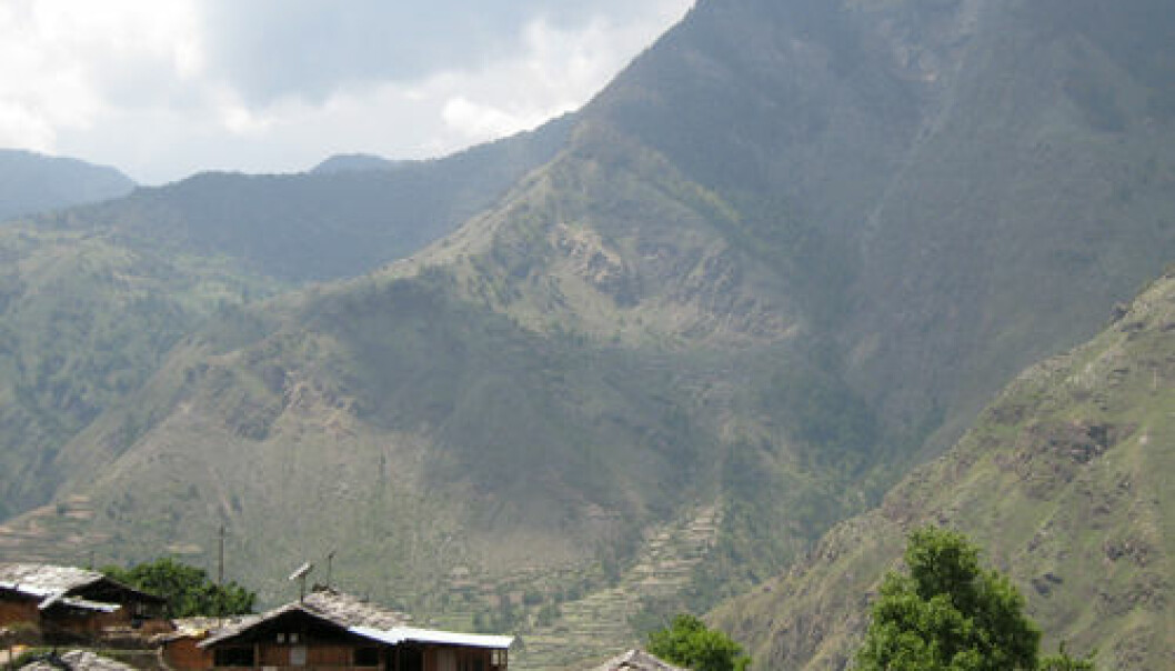 Økolandsbyen Jakul i Uttarakhand. Anna Marie Nicolaysen