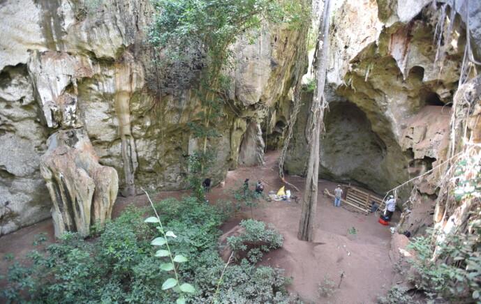I denne hulen, kalt Panga ya Saidi i Kenya ble levningene av det lille barnet funnet.