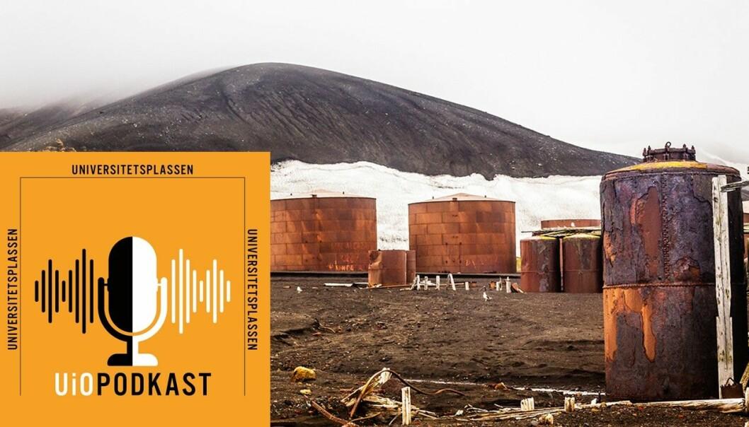 Menneskelige spor: En forlatt, norsk hvalfangststasjon i Deception Bay, Antarktis.