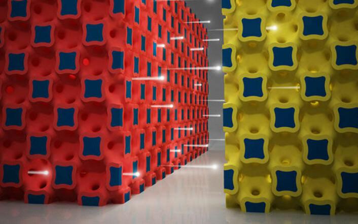Illustrasjonen viser den spesielle tredimensjonale strukturen i aksjon. (Foto: (Illustrasjon: The Beckman Institute for Advanced Science and Technology))
