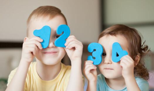 Mange treåringer kan telle til ti! Eller kan de egentlig det?