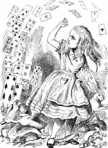 Bildet stammer fra John Tenniels originale illustrasjoner. (Foto: Colourbox)