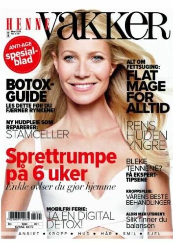 Målet med denne forsiden var ifølge sjefredaktør Laila Madsö å skape et rendyrket skjønnhetsmagasin, med en spissere vinkel og målgruppe enn hovedmagasinet Henne. (Foto: Faksimile)