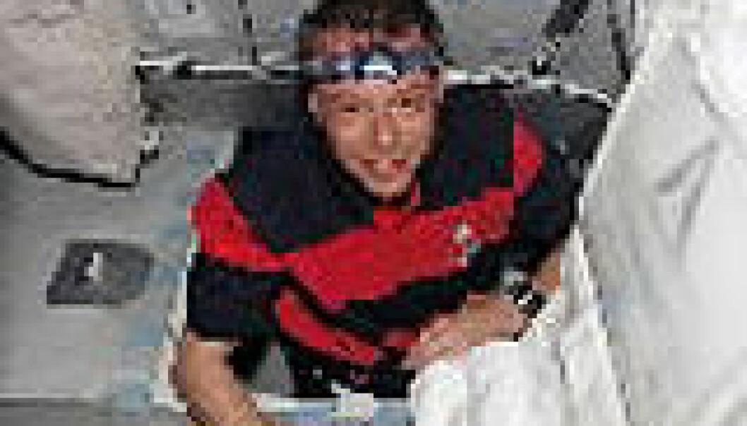 """""""Christer Fuglesang på den internasjonale romstasjonen"""""""