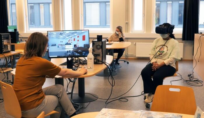 Hege Merete Somby, Ingeborg Amundrud og studentrepresentant i prosjektet Eloisa Michaelsen.