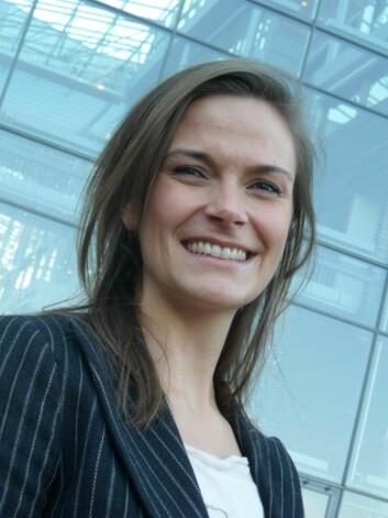 Karoline M. H. Kopperud har tatt doktorgrad ved BI om arbeidsglede på jobben (Foto: Audun Farbrot).