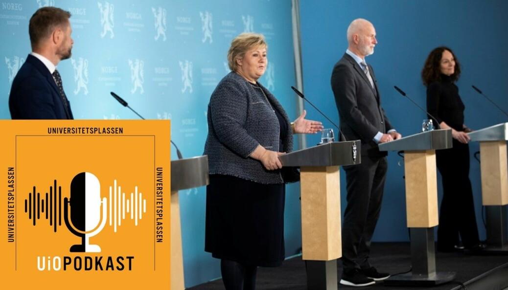 I Norge har det alltid vært flere som har frontet koronatiltakene på pressekonferanser.