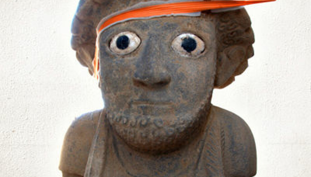 Gigantskulptur funnet i Tyrkia