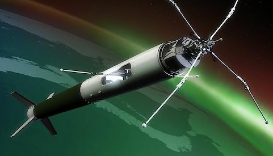 Jakter nordlys med rakett