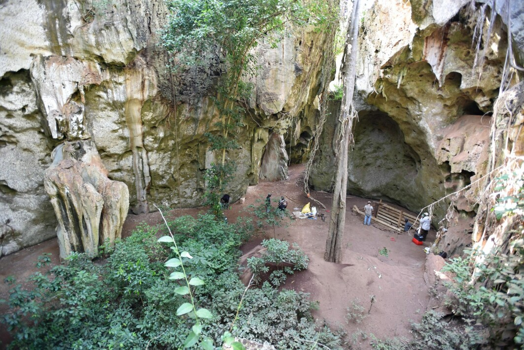 EARLIEST BURIAL CAVE SITE: General view of the cave site of Panga ya Saidi where the earliest burial was discovered and dated to be 78,000 year.