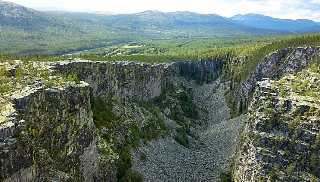 Nå kan forskere slå fast at også Norge har opplevd det som kalles en megaflom. Og det er ikke lenger siden enn at flommen må ha vært fryktelig dramatisk for de første menneskene som bodde her. Vannmassene gravde på bare noen få dager ut Jutulhogget mellom Rendalen og Østerdalen.