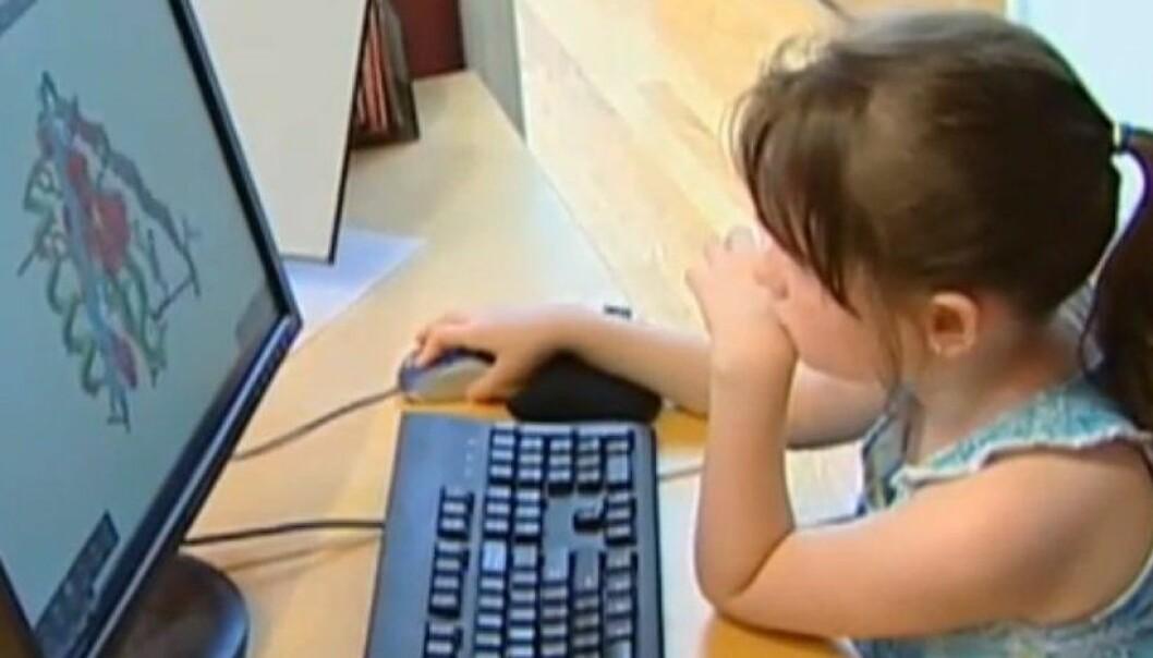 En av spillerne i Foldit, hvor du ikke trenger faglig bakgrunn for å løse vitenskapelige problemer. Se video nederst i artikkelen. University of Washington