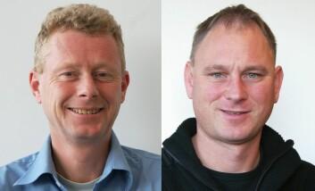 Gunnar Sivertsen (t.v.) og Dag W. Aksnes (Foto: NIFU)