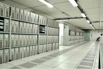 """""""Noen av de 2.800 datamaskinene som skal brukes til å analysere kollisjonene. (Foto: CERN)"""""""