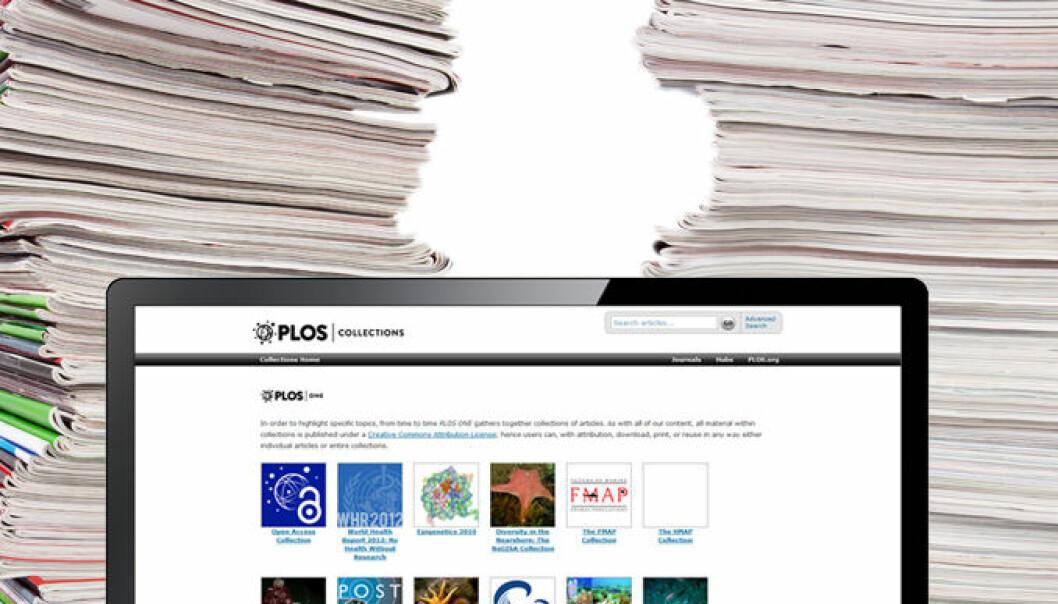 En overgang fra tidsskrifter til databaser vil kunne gjøre det økonomisk mulig å publisere forskning åpent og fritt tilgjengelig for alle. (Montasje: Colourbox)