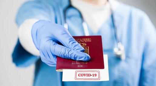 – Vi må ha en offentlig debatt om hva vaksinepasset skal brukes til