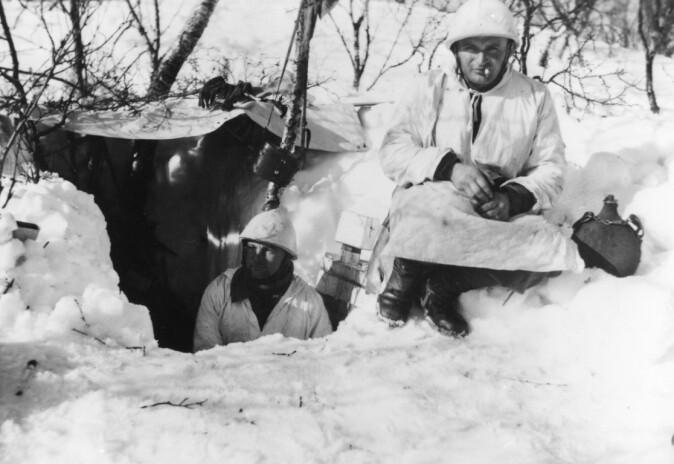 Franske alpejegere deltok i fjellkrigen ved Narvik under felttoget.