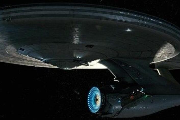 I Star Trek brukes tractor beam for flytte romskip. Om Star Trek-fans noen gang får se det virkeligheten gjenstår å se. (Foto: Industrial Light & Magic)