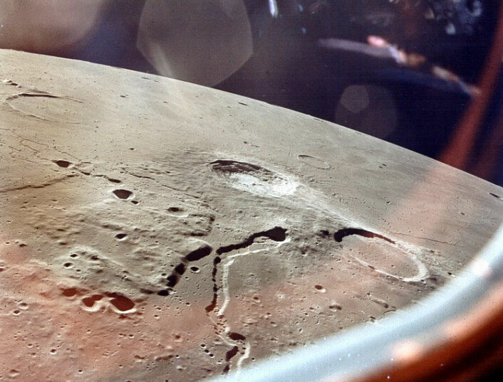 Området rundt Aristarchus-krateret, her fotografert fra Apollo 15. (Foto: NASA)