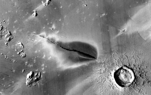 Er det fortsatt aktive vulkaner på Mars?