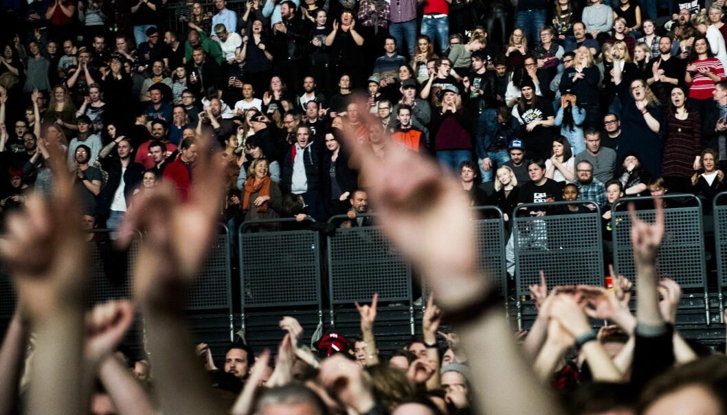 Mange lengter etter å dra på konsert uten å tenke på koronarestriksjoner. Bildet er fra Green Day-konserten i Oslo Spektrum i 2017.