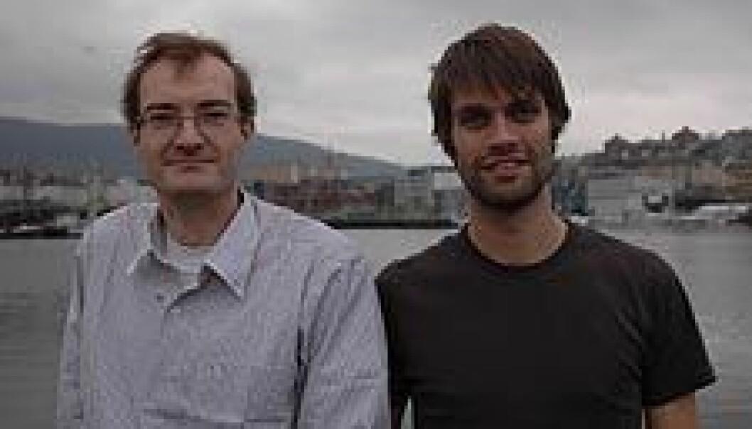 """""""Mikko Heino og Christian Jørgensen er med i en forskningsgruppe ved Institutt for biologi, som arbeider med å utvikle nye modeller for fiskeevolusjon."""""""