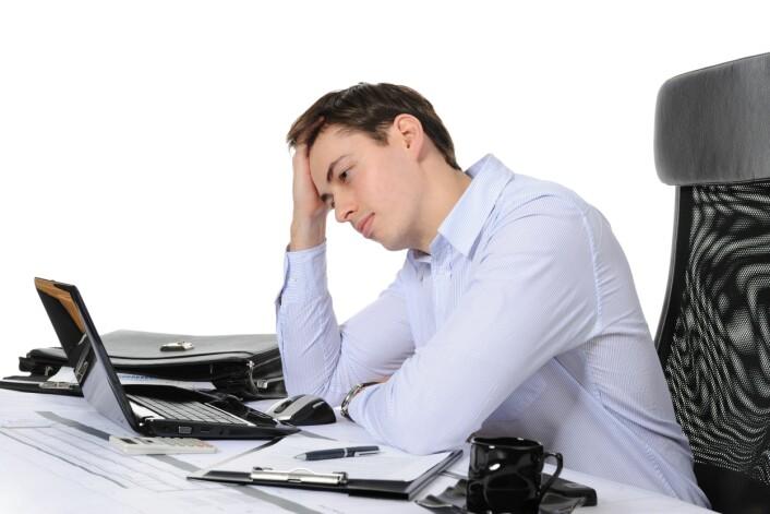 Folk som opplever stress på jobben bruker mindre tid på trening. (Illustrasjonsfoto: Colourbox)