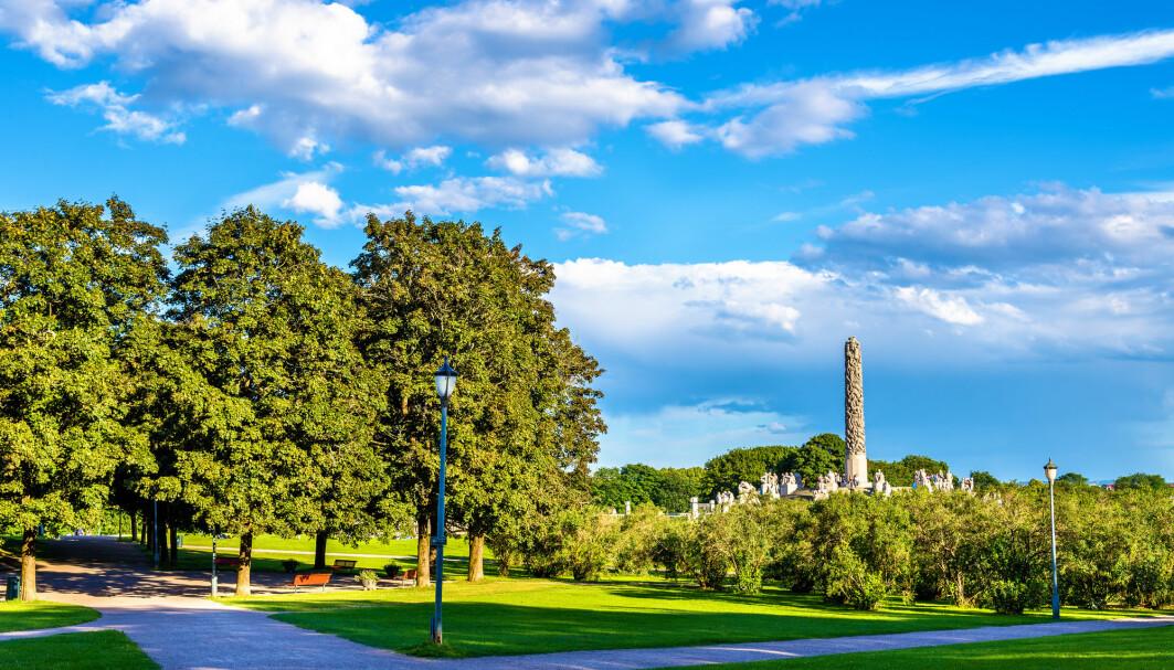 Jo flere parker du har tilgang til, jo mer er du ute, ifølge en amerikansk studie. Dette bildet er fra Frognerparken i Oslo.
