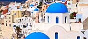 Vulkanøyene Santorini vokser