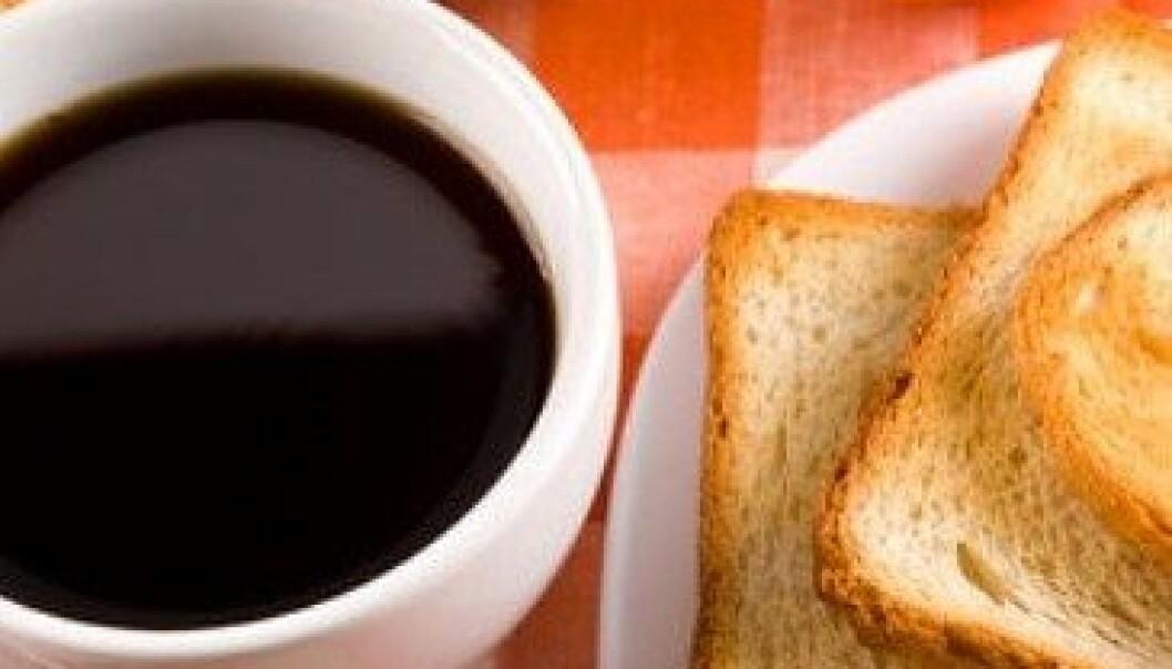 Kaffe og brød er to av ingrediensene den nye rapporten har sett nærmere på. Colourbox