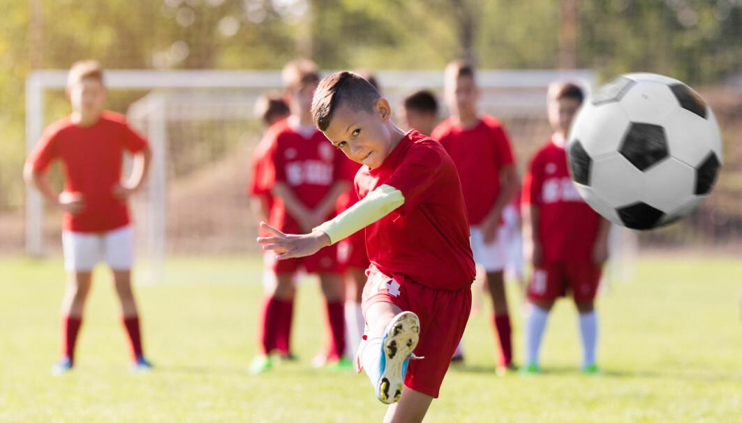 Barn som spiller fotball, er ekstra utsatt for brudd.