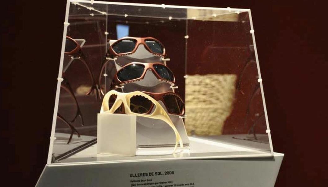 Solbriller designet for personlig tilpasning, av Kathinka Bene. AHO